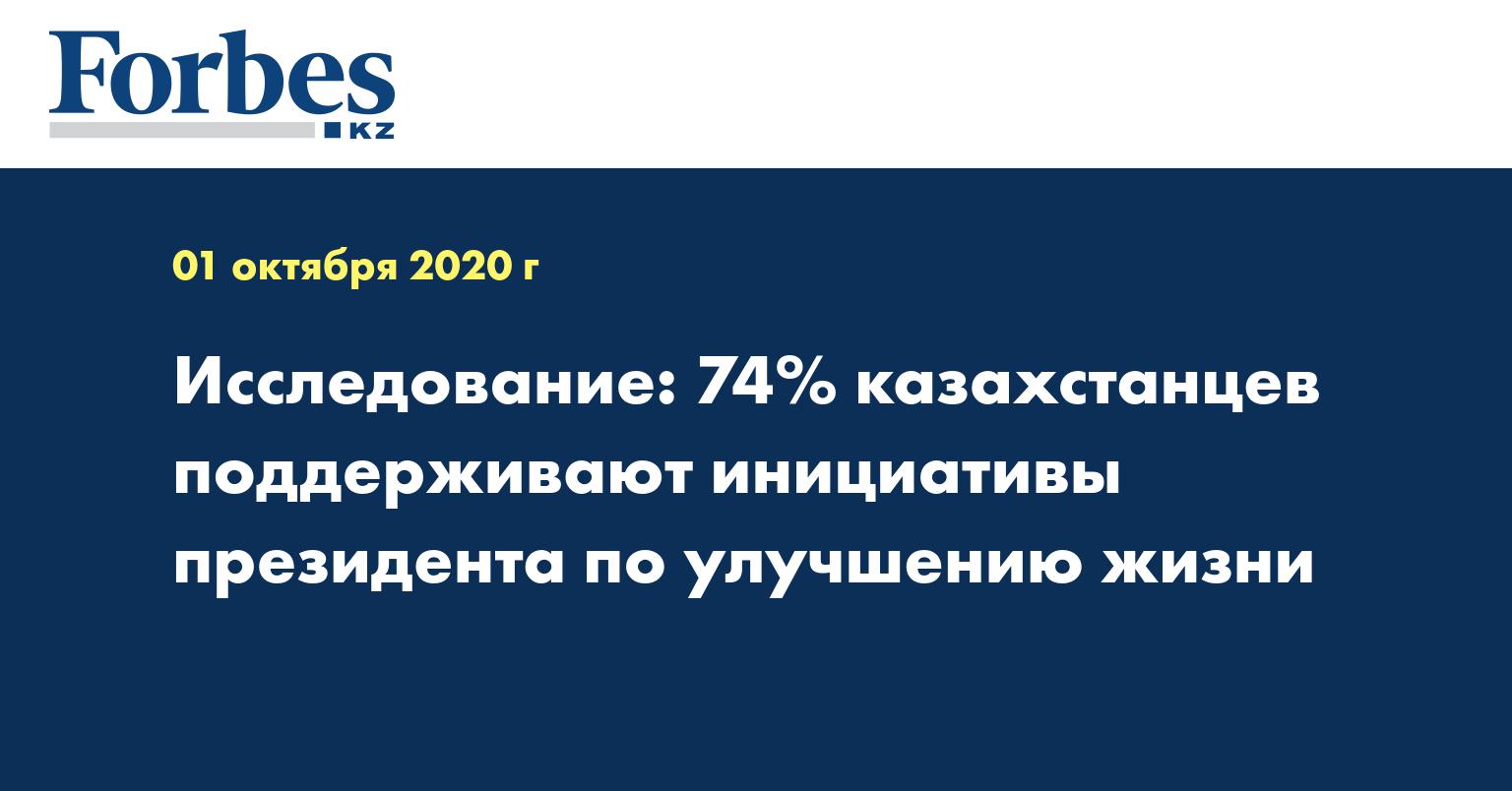 Исследование: 74% казахстанцев поддерживают инициативы президента по улучшению жизни