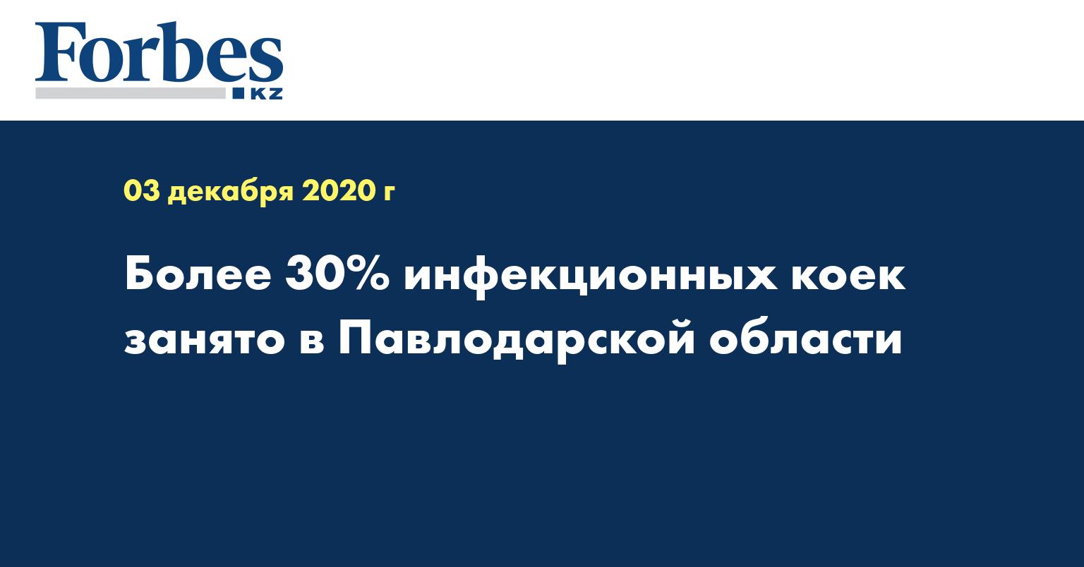 Более 30% инфекционных коек занято в Павлодарской области