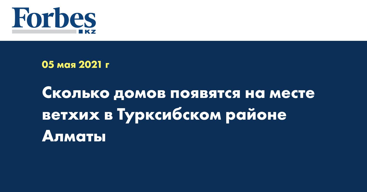 Сколько домов появятся на месте ветхих в Турксибском районе Алматы