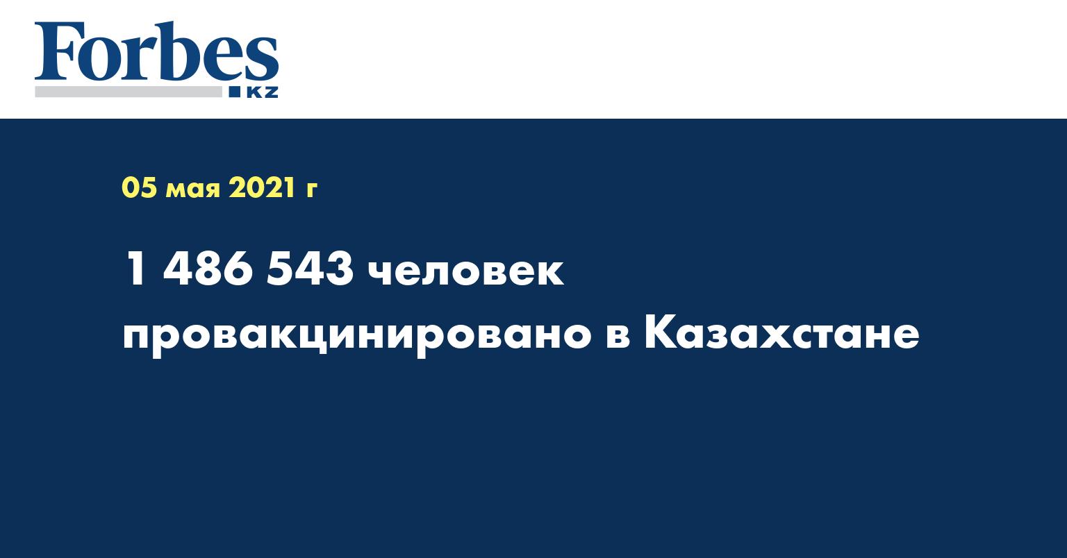 1 486 543 человек провакцинировано в Казахстане