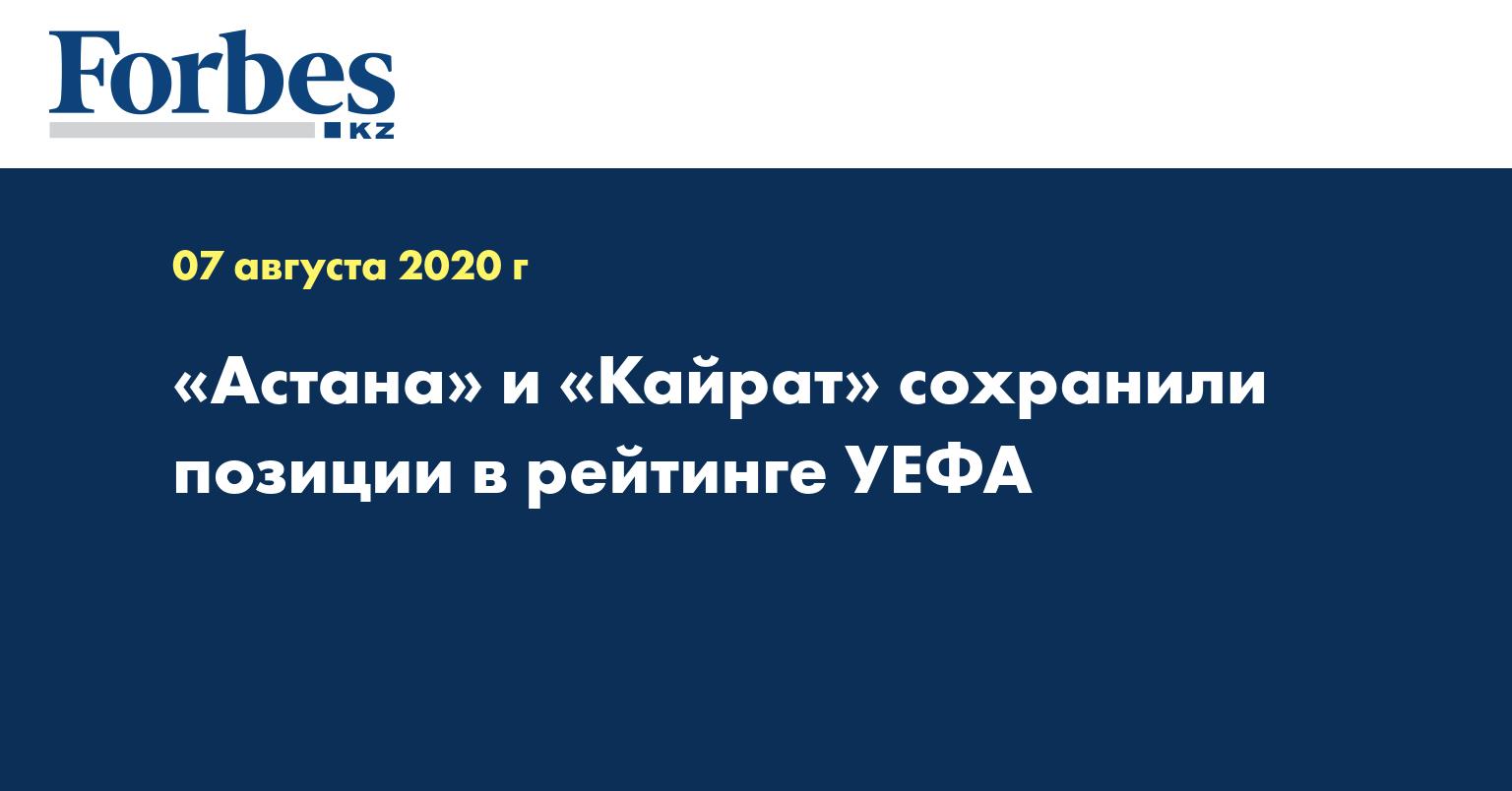«Астана» и «Кайрат» сохранили позиции в рейтинге УЕФА