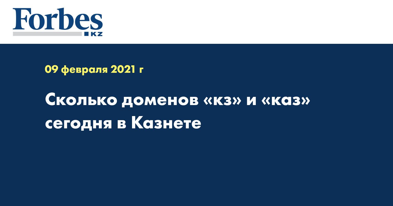 Сколько доменов «кз» и «каз» сегодня в Казнете