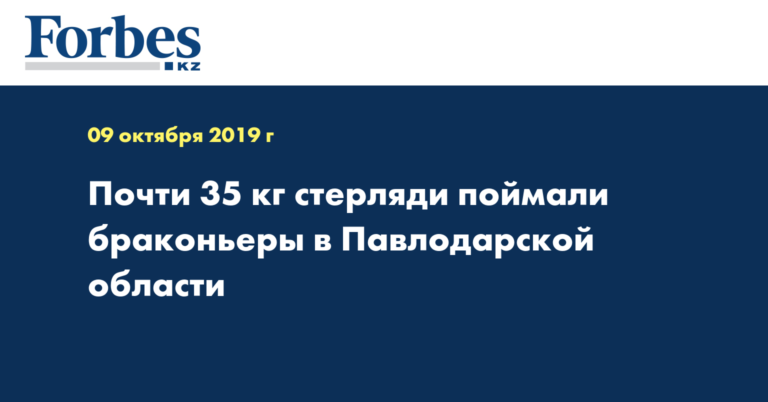 Почти 35 кг стерляди поймали браконьеры в Павлодарской области