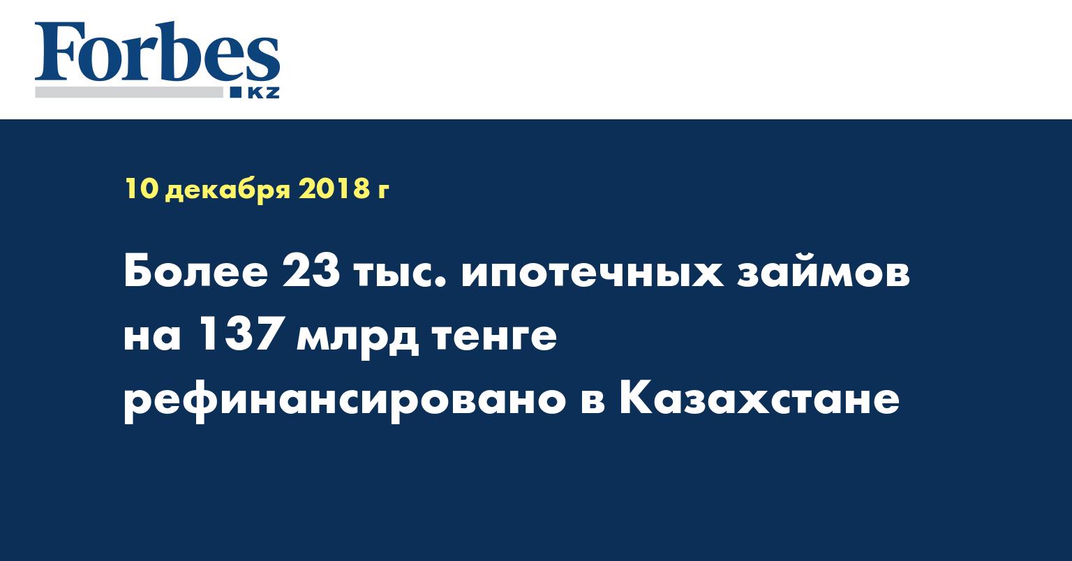 Более 23 тыс. ипотечных займов на 137 млрд тенге рефинансировано в Казахстане