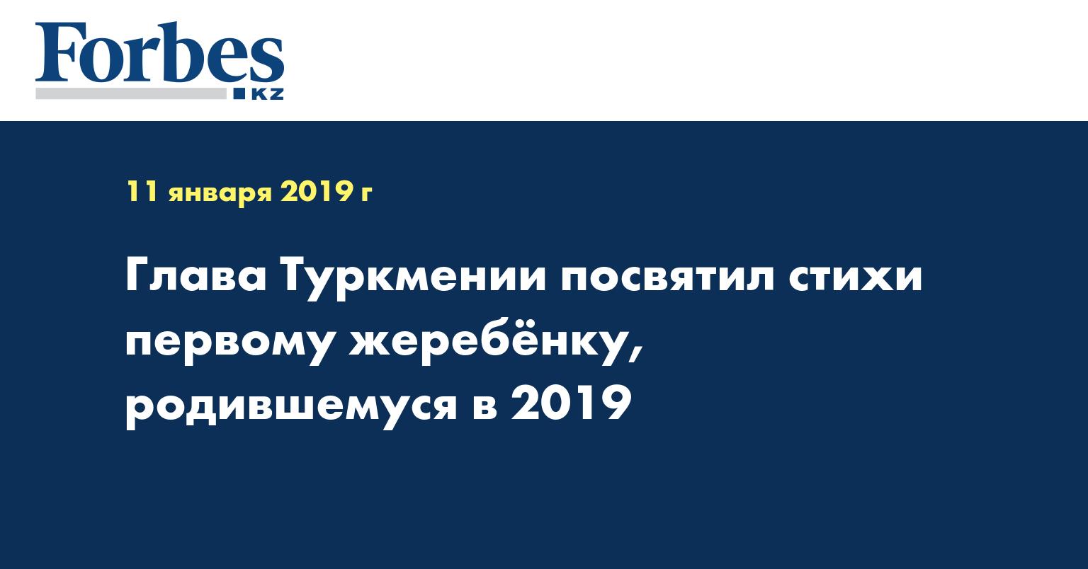 Глава Туркмении посвятил стихи первому жеребенку, родившемуся в 2019