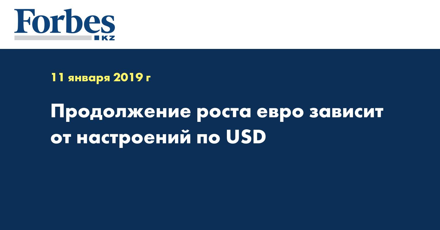 Продолжение роста евро зависит от настроений по USD