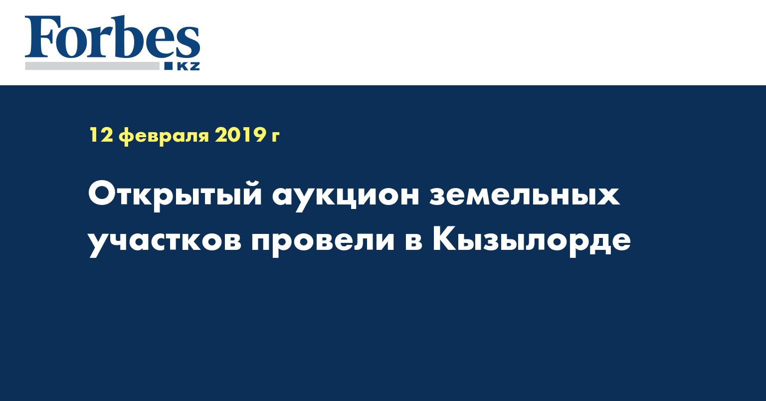 Открытый аукцион земельных участков провели в Кызылорде