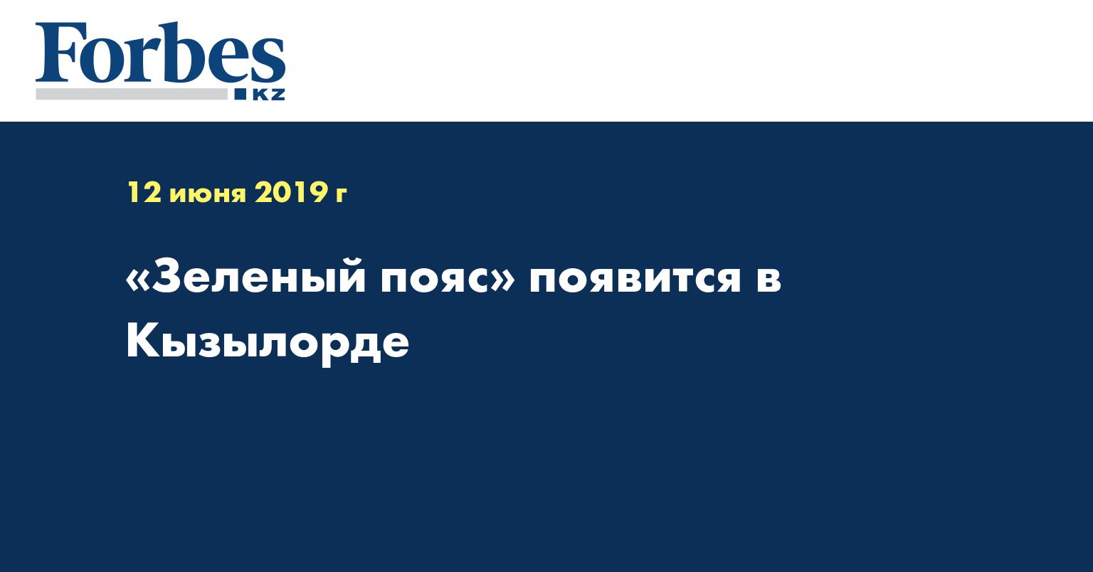 «Зеленый пояс» появится в Кызылорде