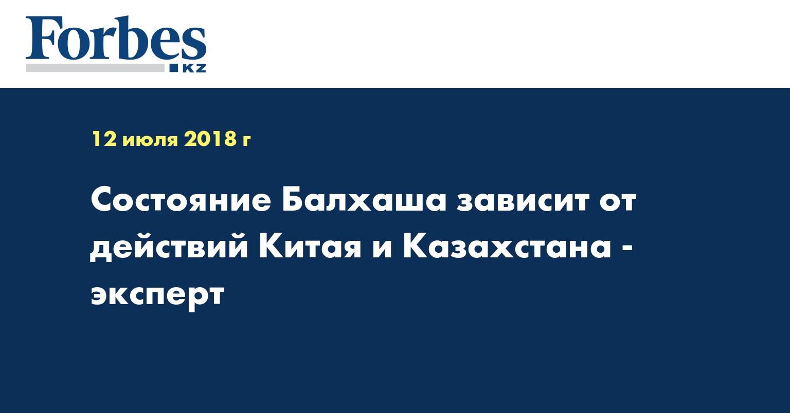 Состояние Балхаша зависит от действий Китая и Казахстана - эксперт