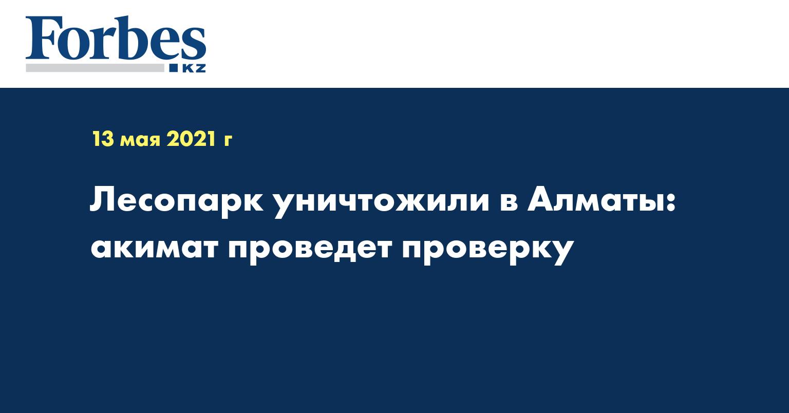 Лесопарк уничтожили в Алматы: акимат проведет проверку