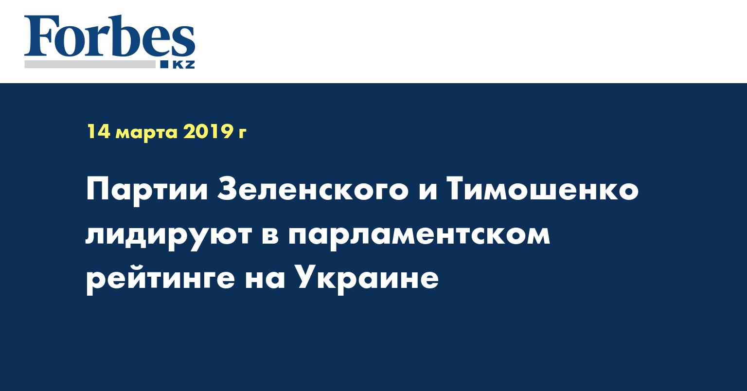 Партии Зеленского и Тимошенко лидируют в парламентском рейтинге на Украине