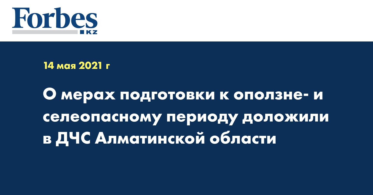 О мерах подготовки к оползне- и селеопасному периоду доложили в ДЧС Алматинской области