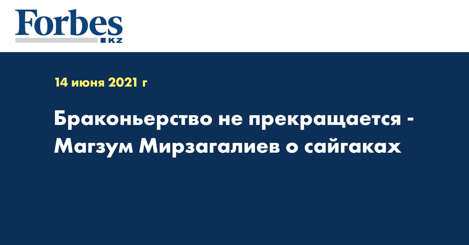 Браконьерство не прекращается - Магзум Мирзагалиев о сайгаках