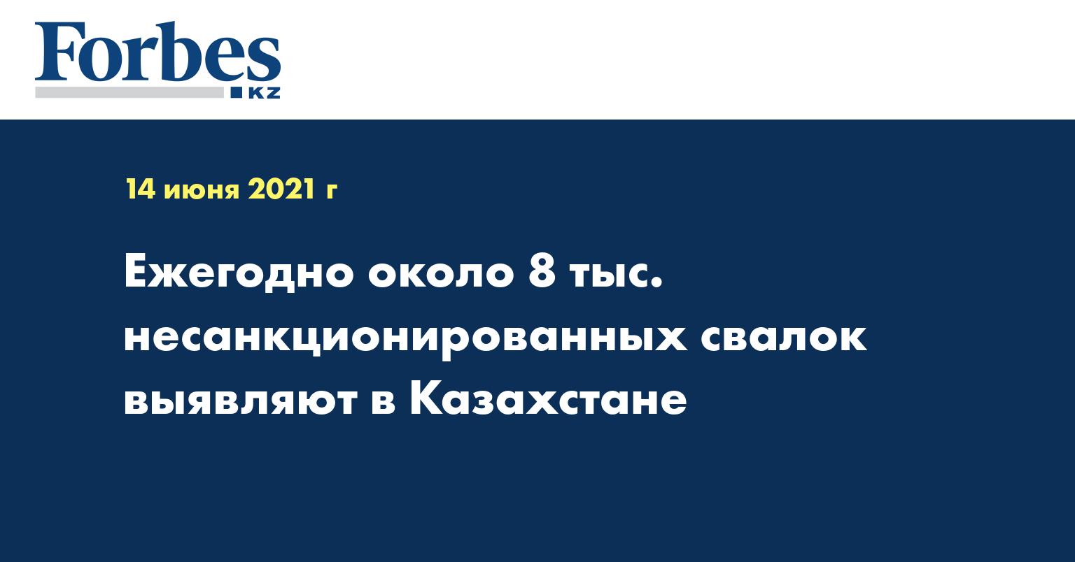 Ежегодно около 8 тыс. несанкционированных свалок выявляют в Казахстане
