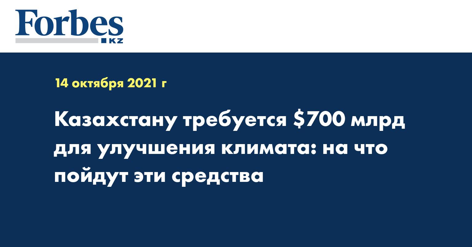 Казахстану требуется $700 млрд для улучшения климата: на что пойдут эти средства