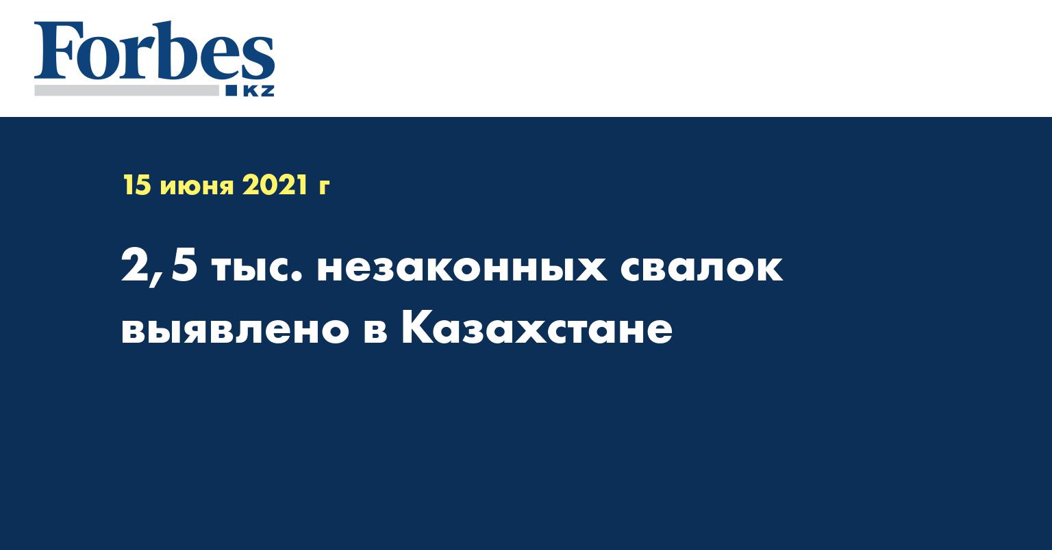 2,5 тыс. незаконных свалок выявлено в Казахстане