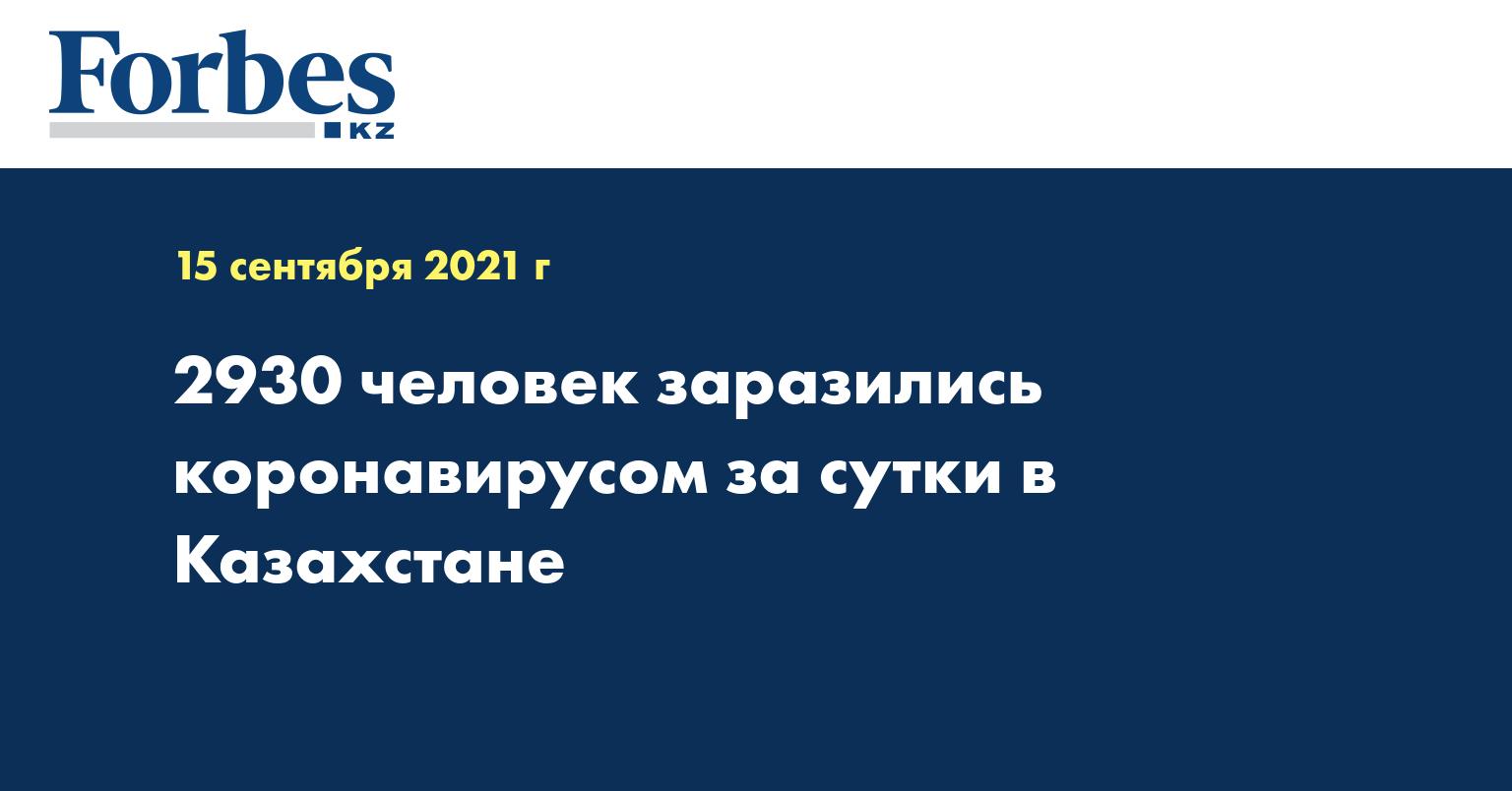 2930 человек заразились коронавирусом за сутки в Казахстане