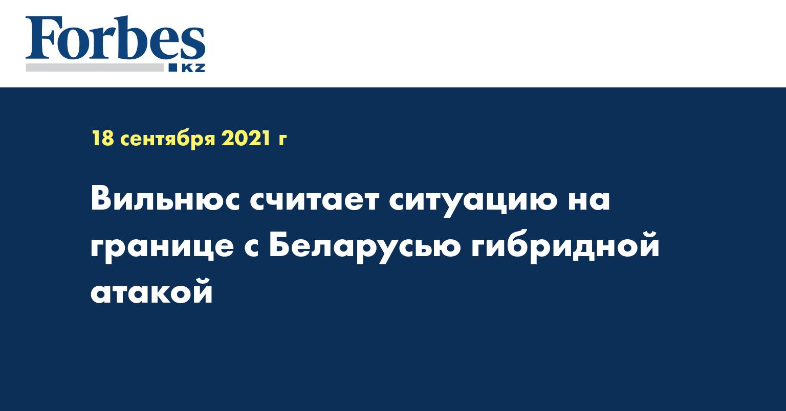 Вильнюс считает ситуацию на границе с Беларусью гибридной атакой