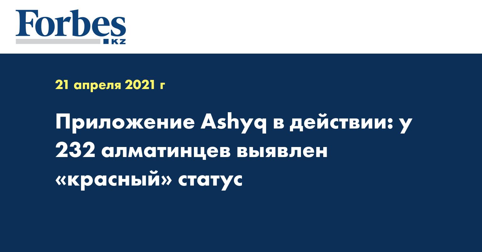 Приложение Ashyq в действии: у 232 алматинцев выявлен «красный» статус