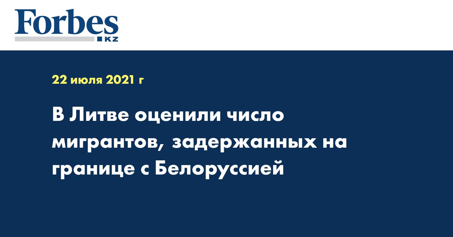 В Литве оценили число мигрантов, задержанных на границе с Белоруссией