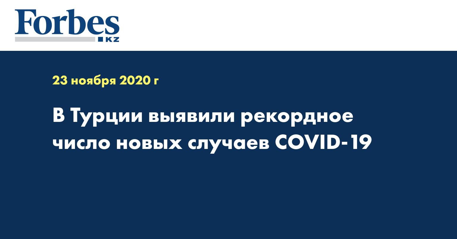 В Турции выявили рекордное число новых случаев COVID-19