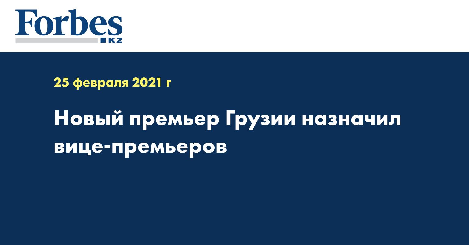 Новый премьер Грузии назначил вице-премьеров