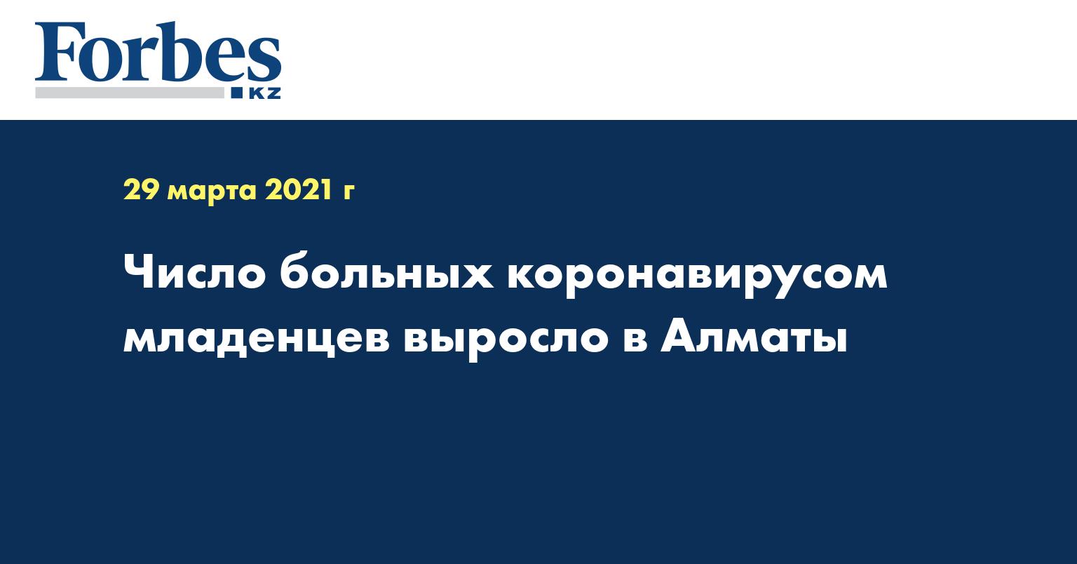 Число больных коронавирусом младенцев выросло в Алматы